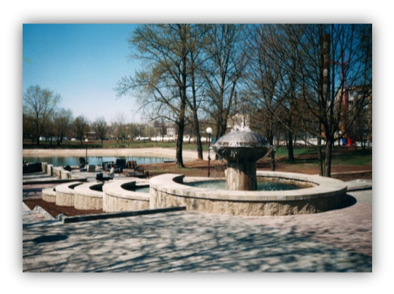 1 место - фонтан