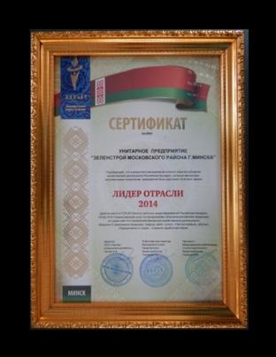 сертификат 2014 год
